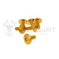 Винты M6x15 - желтый [6шт]